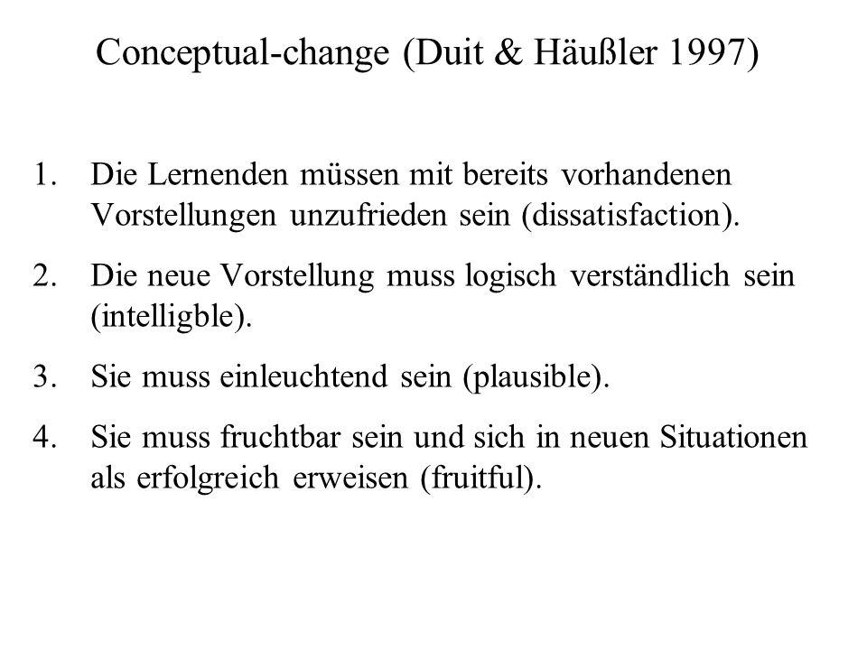 Conceptual-change (Duit & Häußler 1997)