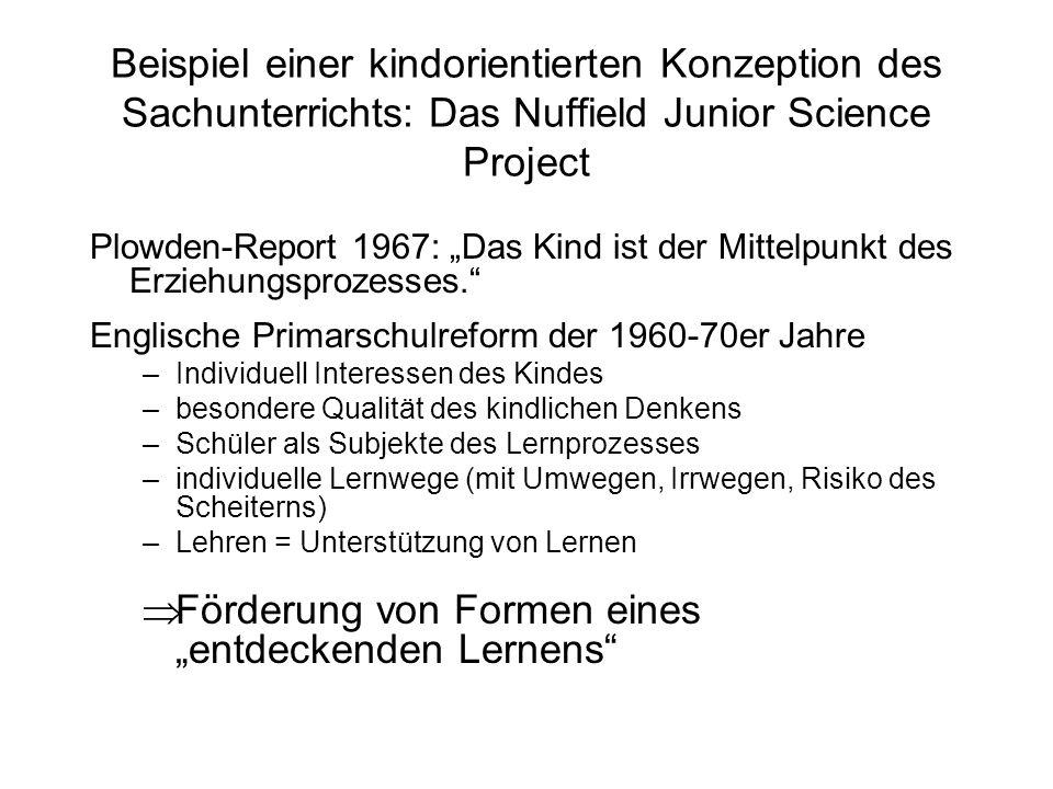 """Förderung von Formen eines """"entdeckenden Lernens"""
