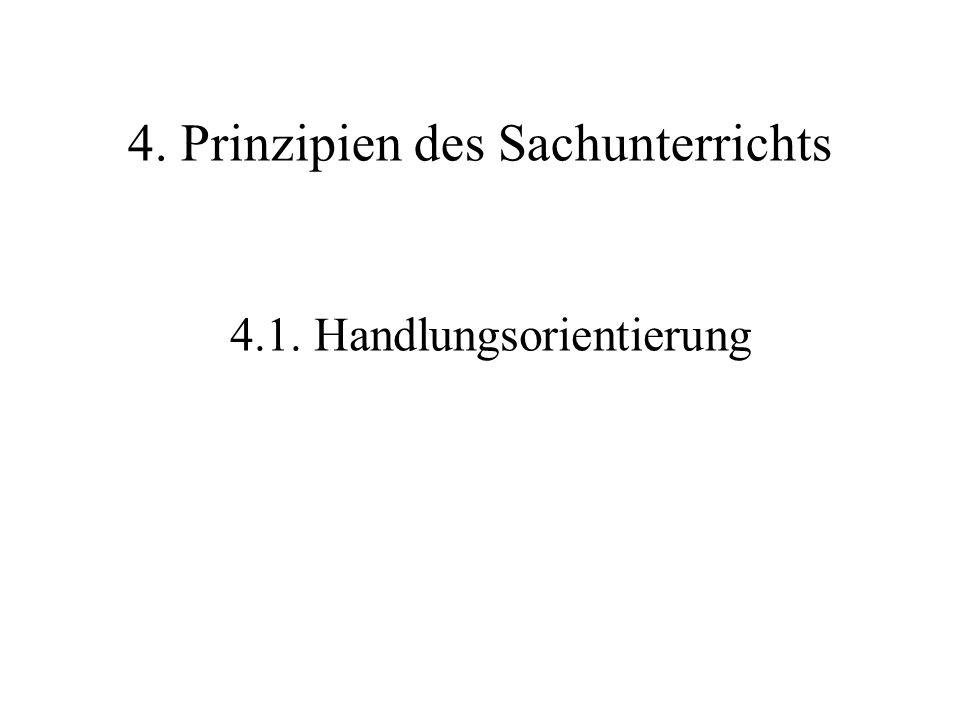 4. Prinzipien des Sachunterrichts