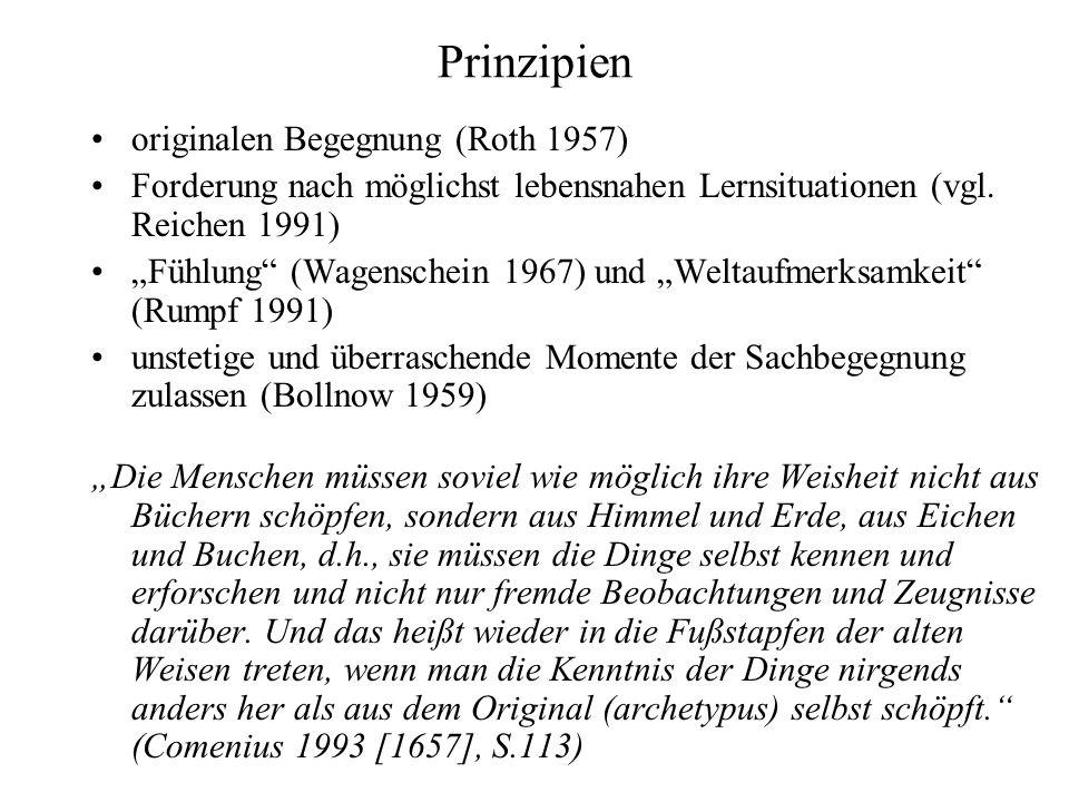Prinzipien originalen Begegnung (Roth 1957)