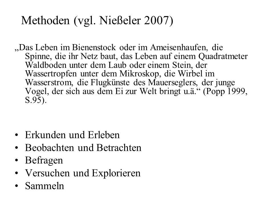 Methoden (vgl. Nießeler 2007)