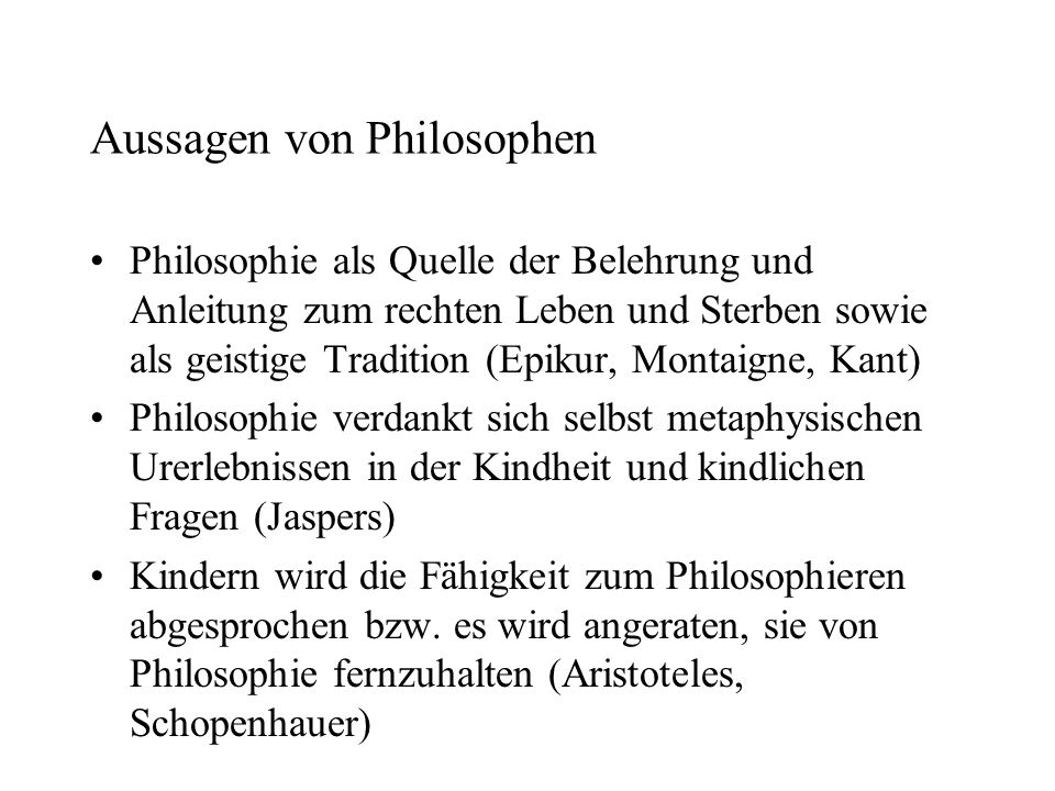 Aussagen von Philosophen