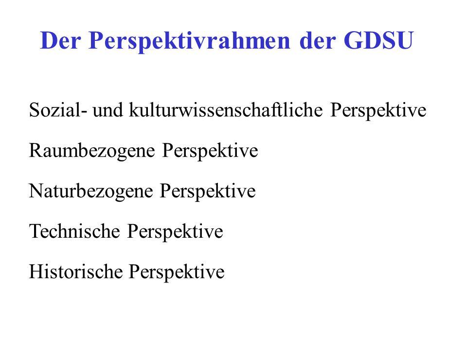 Der Perspektivrahmen der GDSU