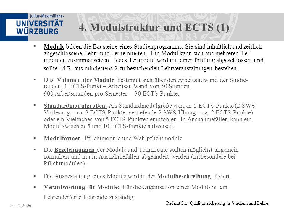 4. Modulstruktur und ECTS (1)