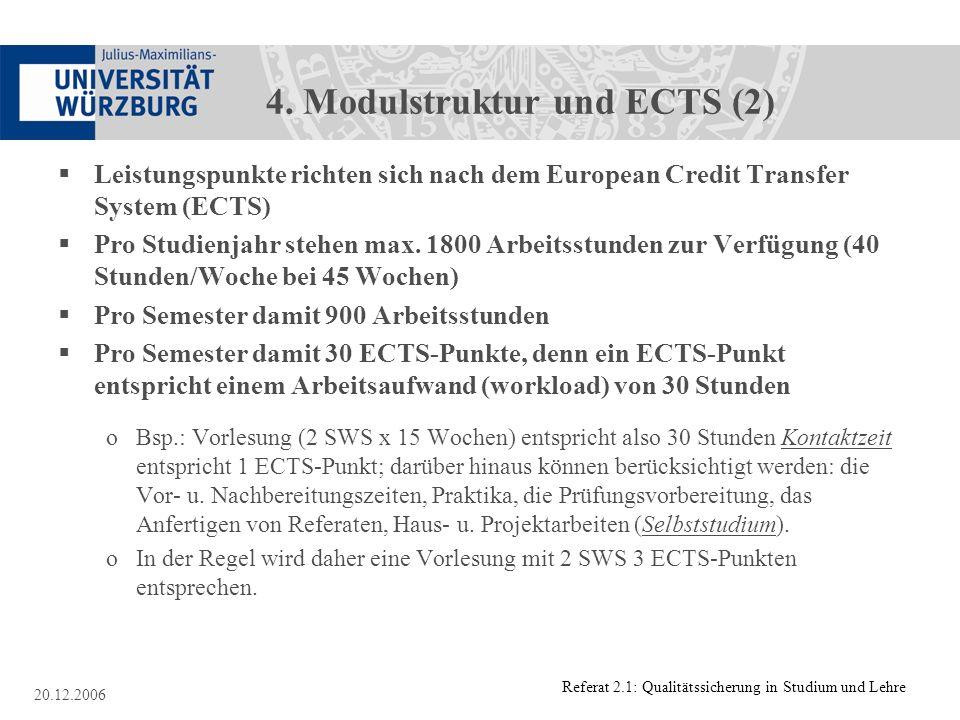 4. Modulstruktur und ECTS (2)