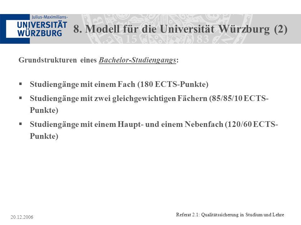 8. Modell für die Universität Würzburg (2)