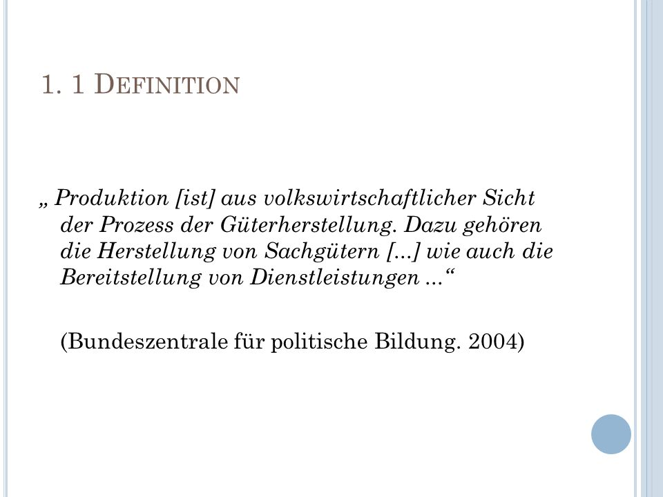 1. 1 Definition
