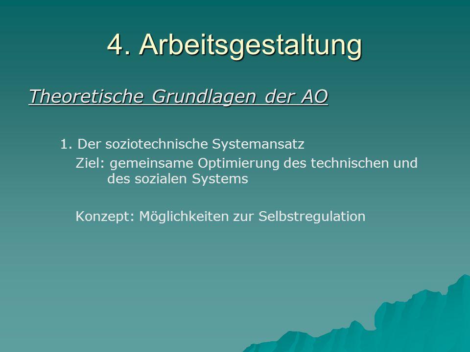 4. Arbeitsgestaltung Theoretische Grundlagen der AO