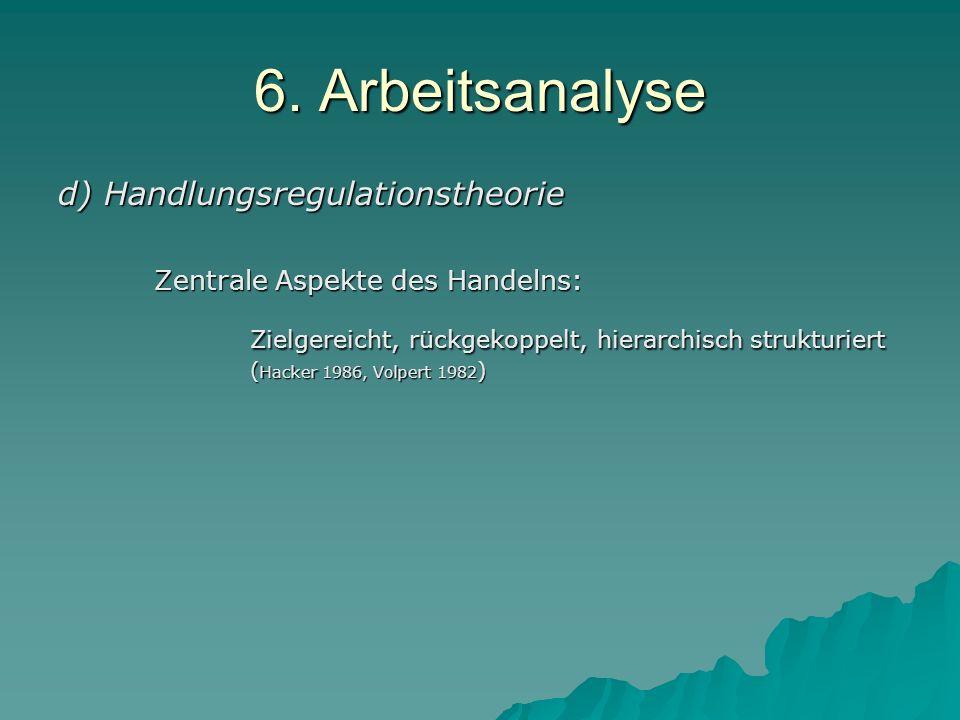 6. Arbeitsanalyse d) Handlungsregulationstheorie