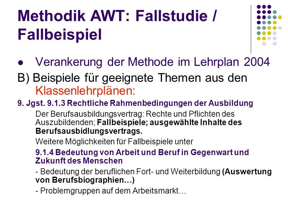 Methodik AWT: Fallstudie / Fallbeispiel