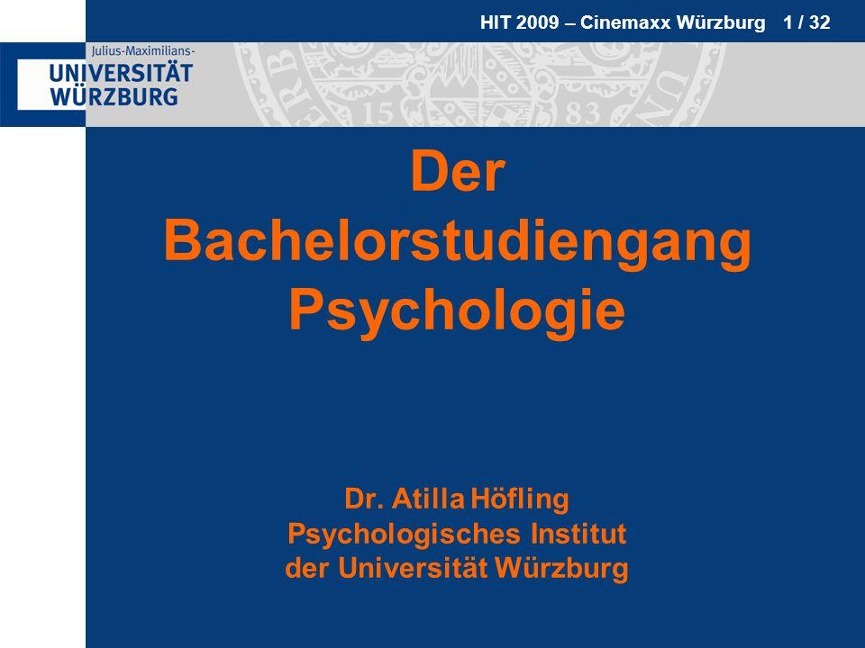 Der Bachelorstudiengang Psychologie Dr