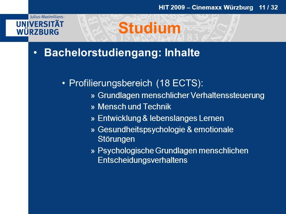 Studium Bachelorstudiengang: Inhalte Profilierungsbereich (18 ECTS):