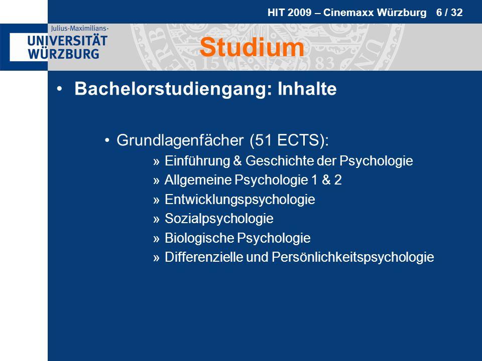 Studium Bachelorstudiengang: Inhalte Grundlagenfächer (51 ECTS):