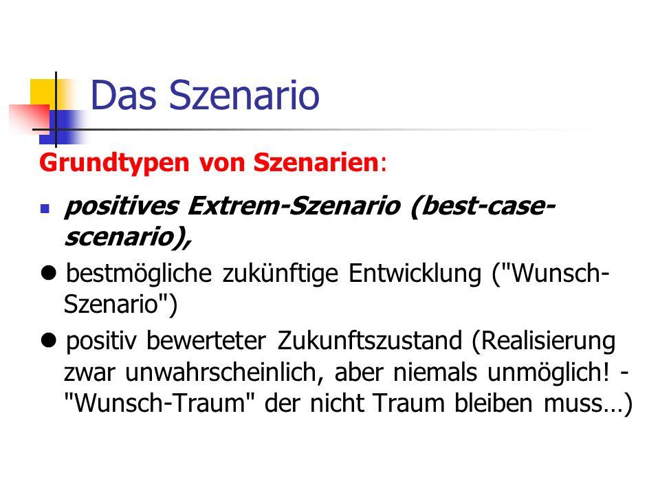 Das Szenario Grundtypen von Szenarien:
