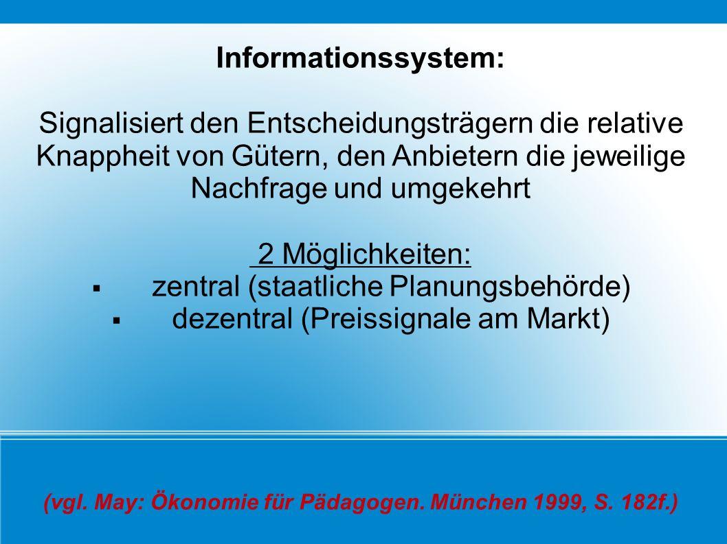 (vgl. May: Ökonomie für Pädagogen. München 1999, S. 182f.)