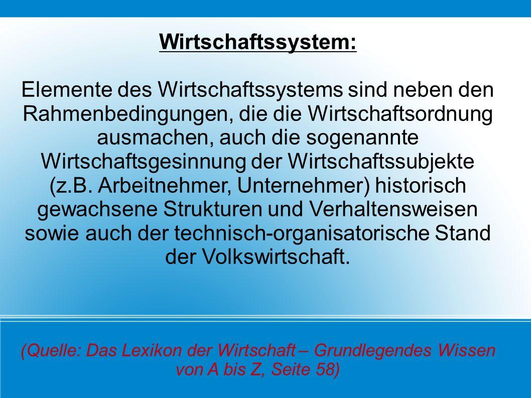 Wirtschaftssystem: