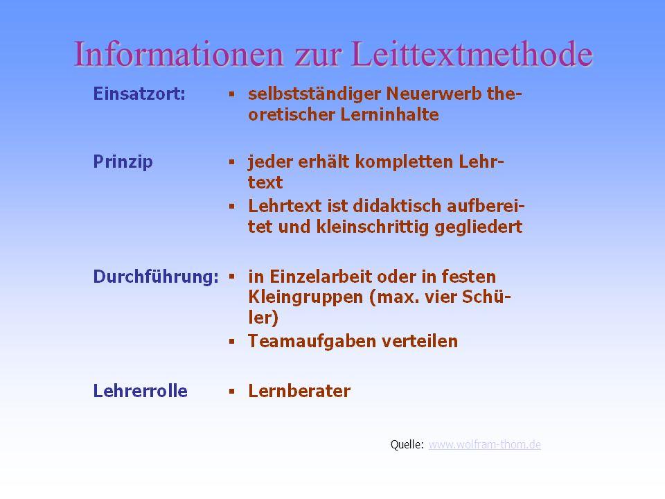 Informationen zur Leittextmethode