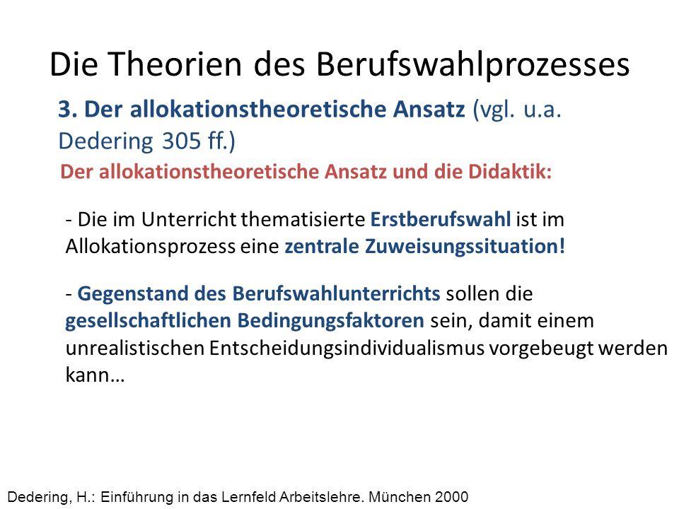 Die Theorien des Berufswahlprozesses