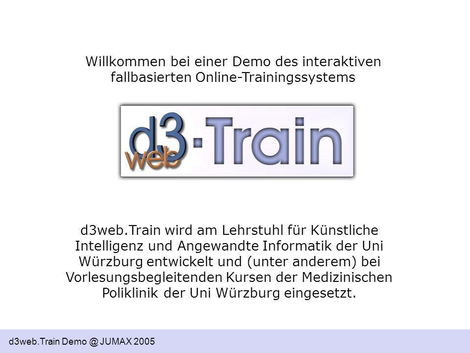 Willkommen bei einer Demo des interaktiven fallbasierten Online-Trainingssystems