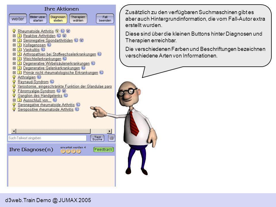 Zusätzlich zu den verfügbaren Suchmaschinen gibt es aber auch Hintergrundinformation, die vom Fall-Autor extra erstellt wurden.