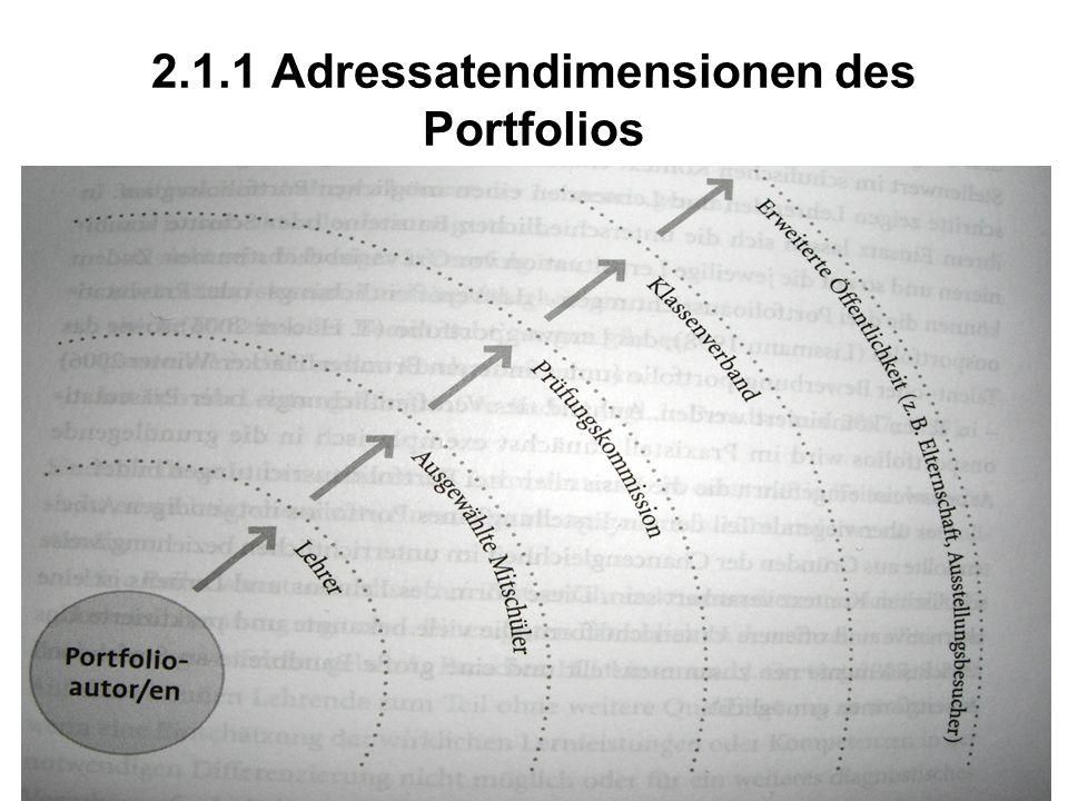 2.1.1 Adressatendimensionen des Portfolios