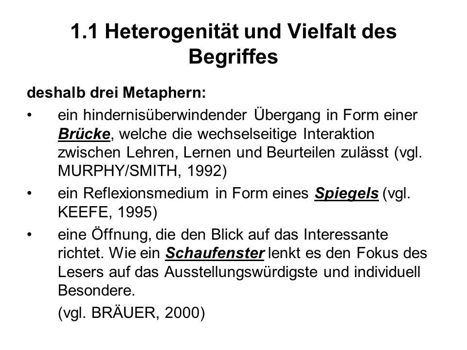 1.1 Heterogenität und Vielfalt des Begriffes