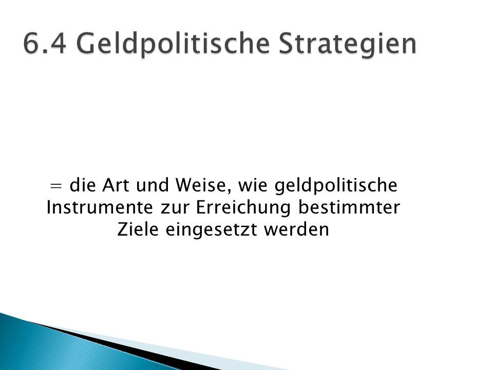 6.4 Geldpolitische Strategien