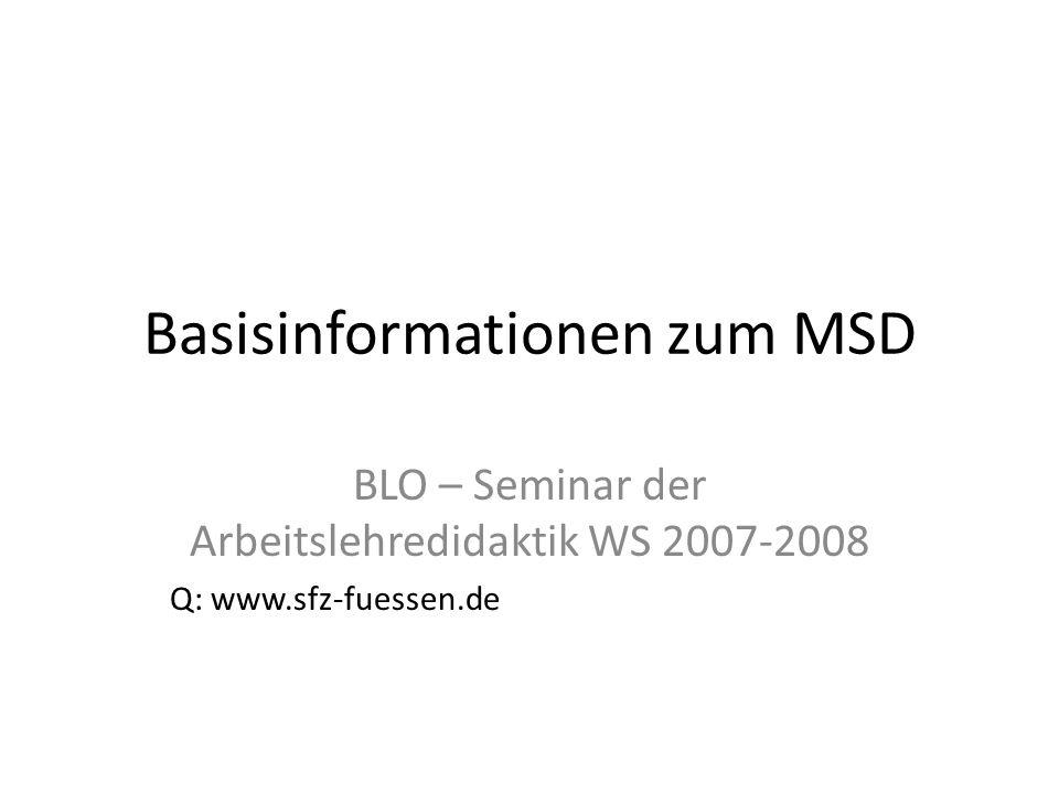 Basisinformationen zum MSD
