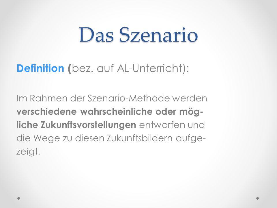 Das Szenario Definition (bez. auf AL-Unterricht):