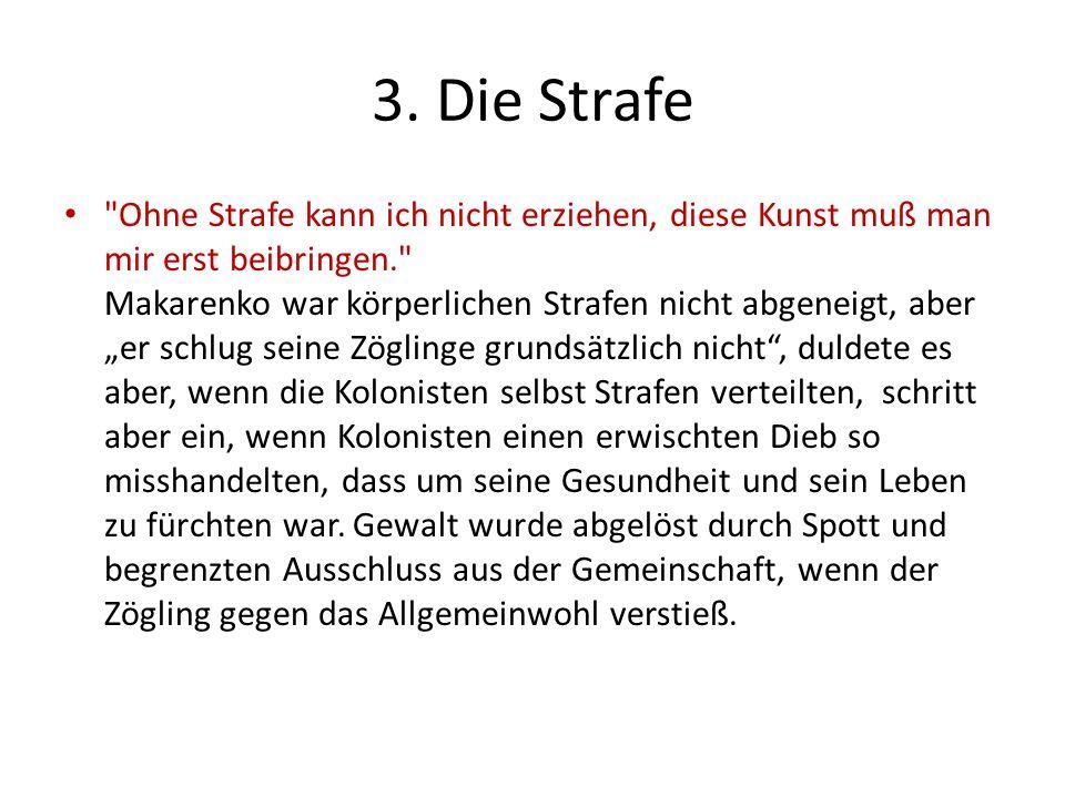 3. Die Strafe