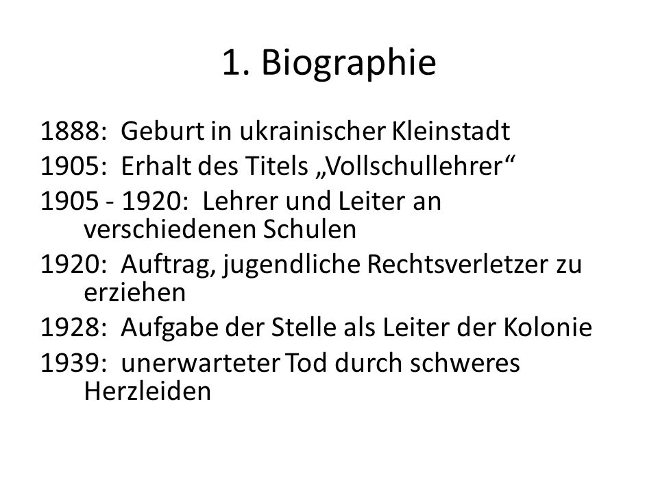 1. Biographie