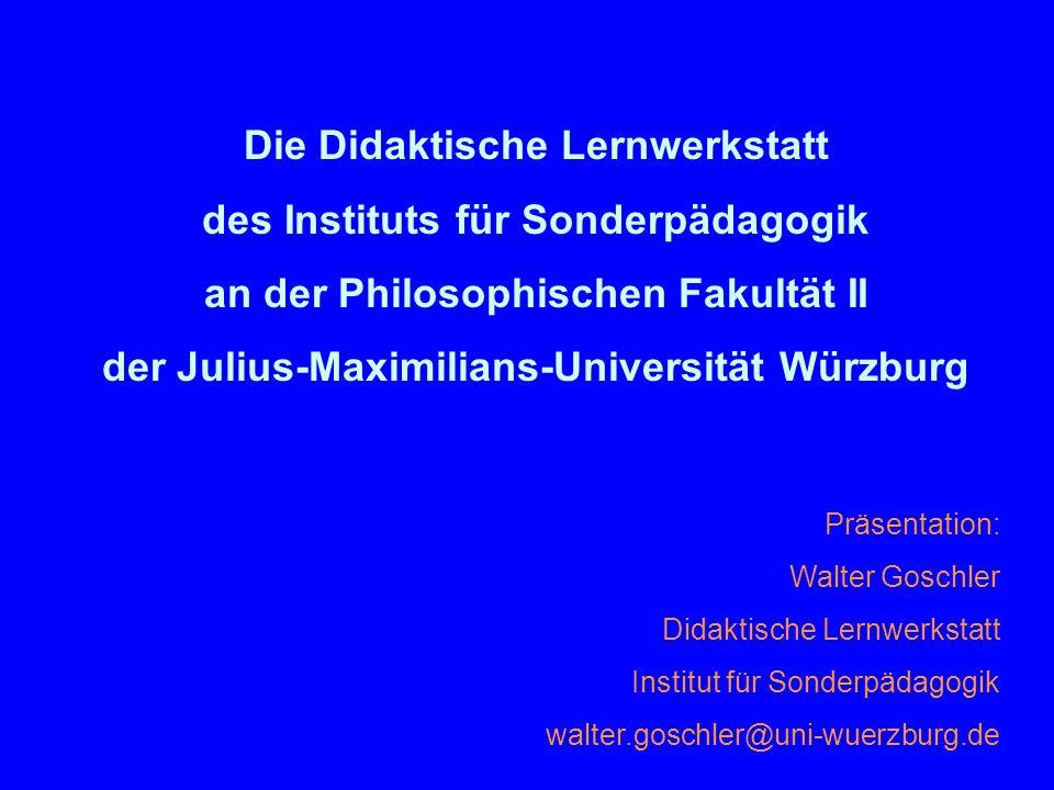 Die Didaktische Lernwerkstatt des Instituts für Sonderpädagogik