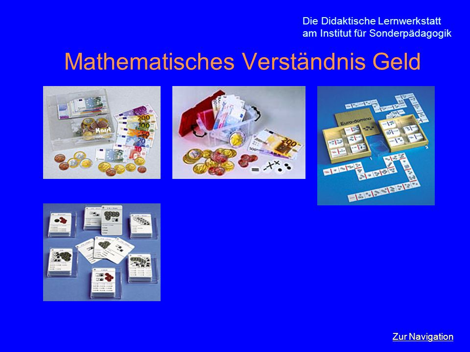 Mathematisches Verständnis Geld