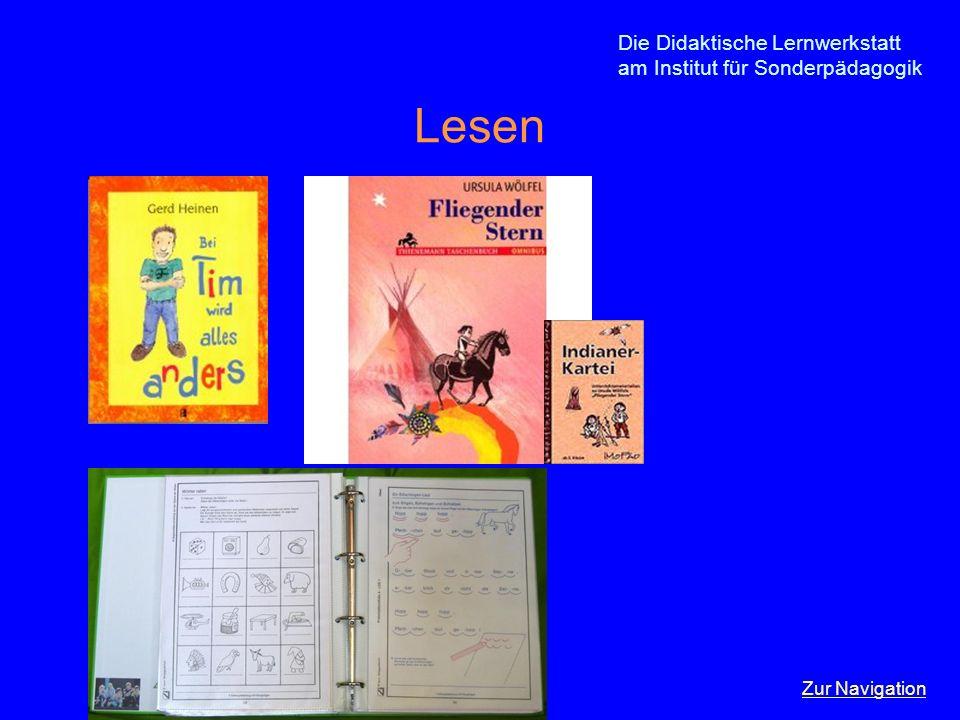 Lesen Die Didaktische Lernwerkstatt am Institut für Sonderpädagogik