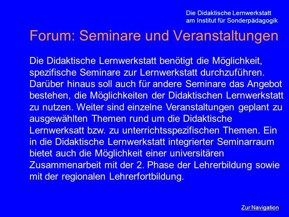 Forum: Seminare und Veranstaltungen