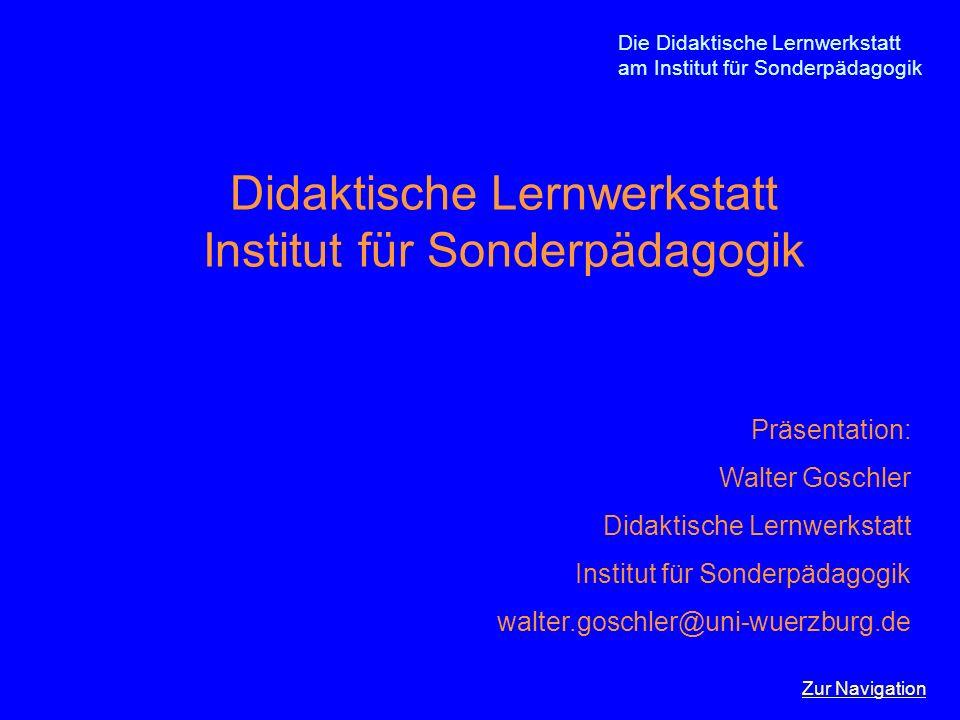 Didaktische Lernwerkstatt Institut für Sonderpädagogik