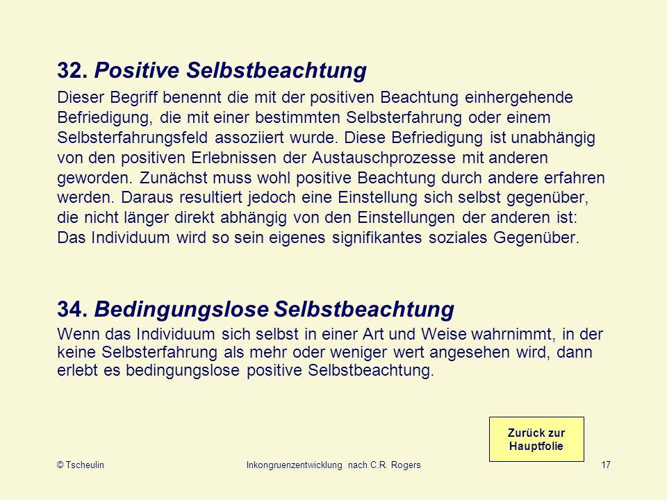 32. Positive Selbstbeachtung
