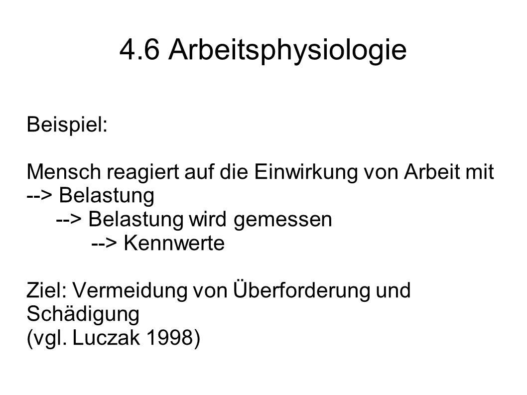 4.6 Arbeitsphysiologie Beispiel: