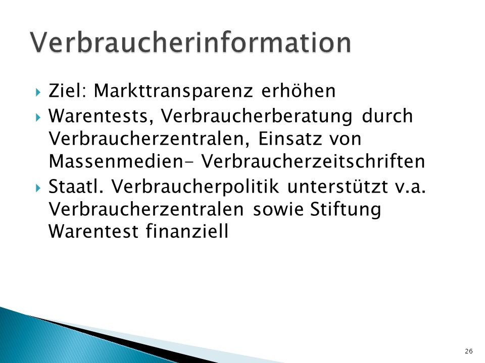 Verbraucherinformation