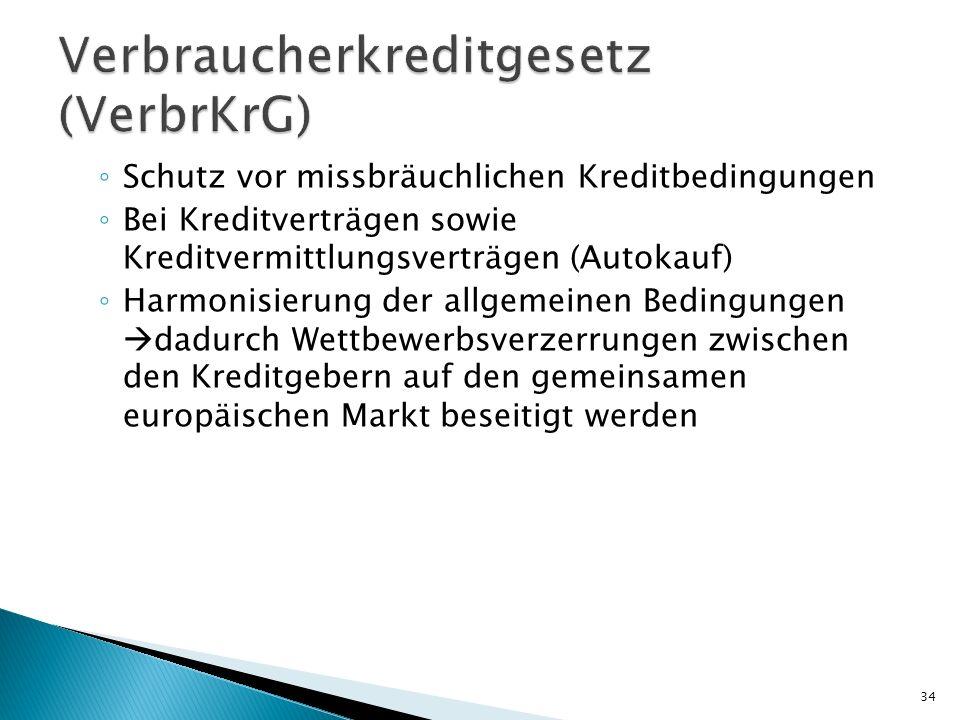 Verbraucherkreditgesetz (VerbrKrG)