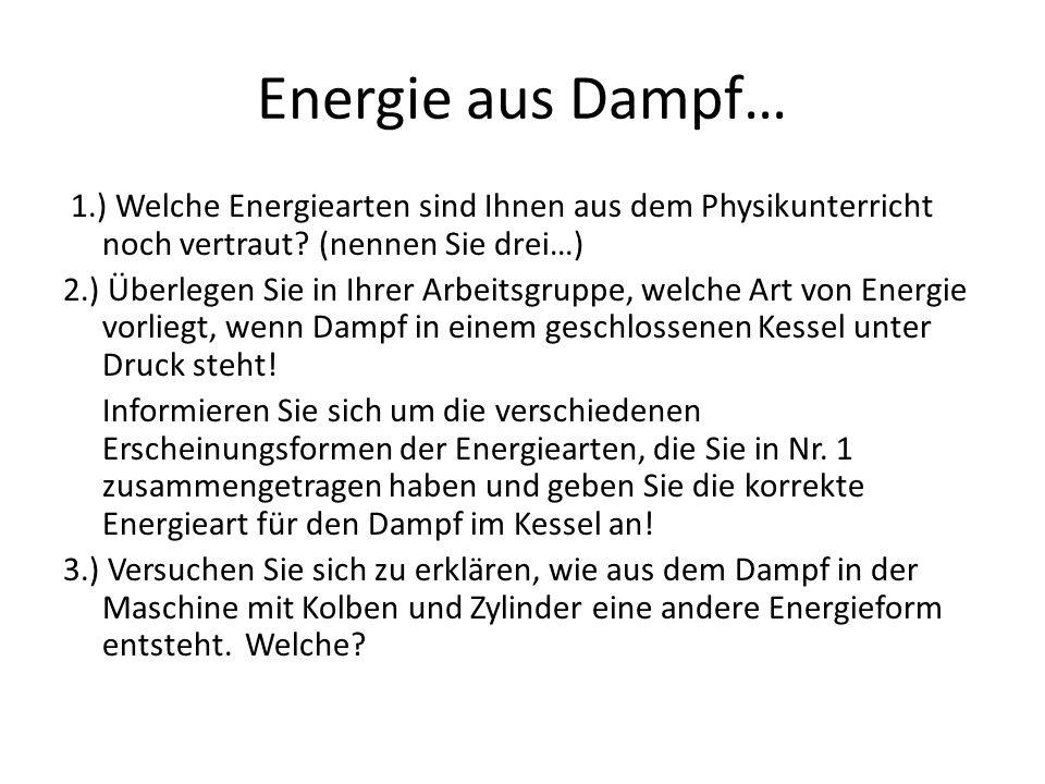 Energie aus Dampf…