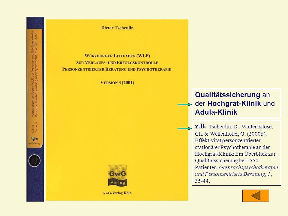 Qualitätssicherung an der Hochgrat-Klinik und Adula-Klinik