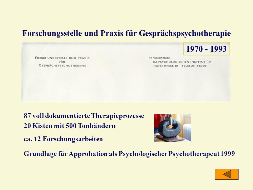 Forschungsstelle und Praxis für Gesprächspsychotherapie