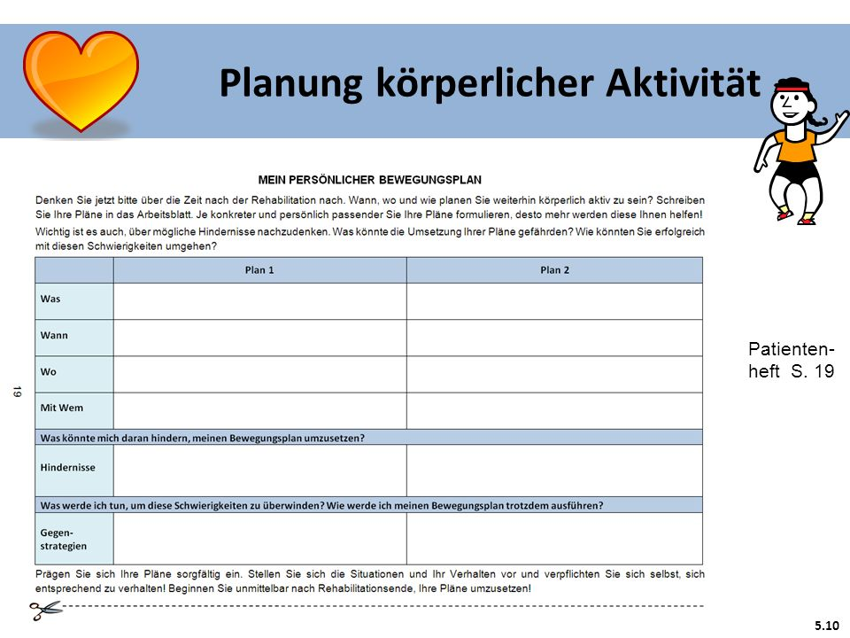 Planung körperlicher Aktivität