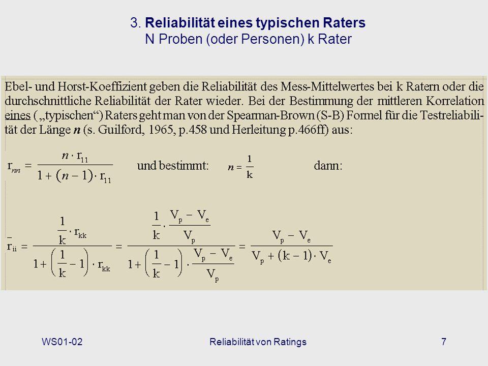 Reliabilität von Ratings