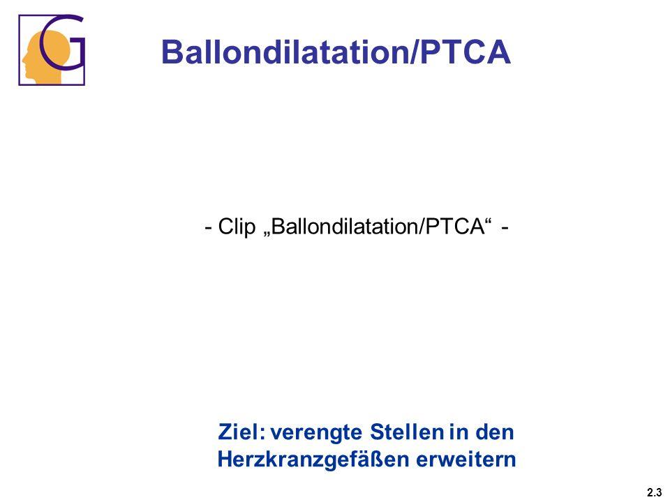 Ballondilatation/PTCA