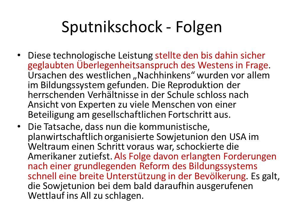 Sputnikschock - Folgen