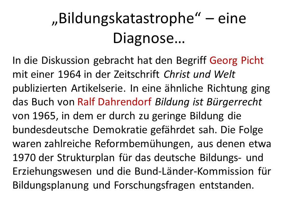 """""""Bildungskatastrophe – eine Diagnose…"""