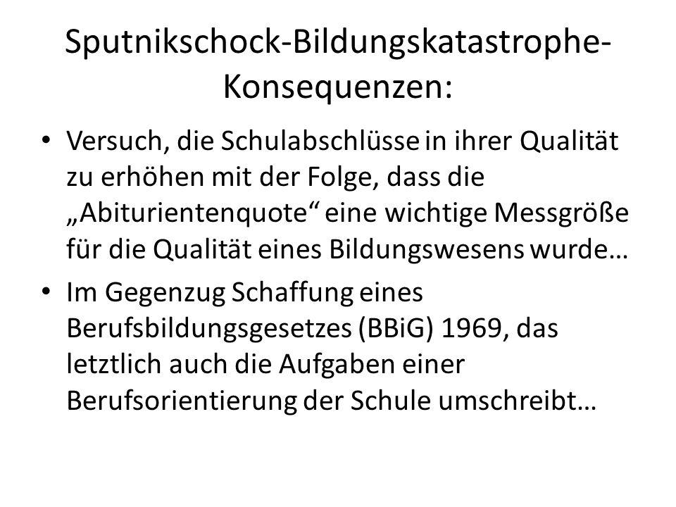Sputnikschock-Bildungskatastrophe-Konsequenzen: