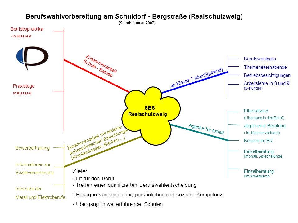 Berufswahlvorbereitung am Schuldorf - Bergstraße (Realschulzweig)